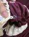 *ドレス袖口の内側についたボタンに付け袖のボタンループをひっかけて着用します